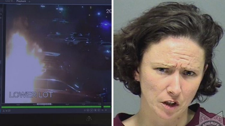 Woman charged with arson for setting car on fire at Oregon City dealership
