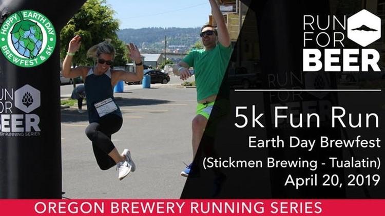 5K fun run Earth Day Brewfest