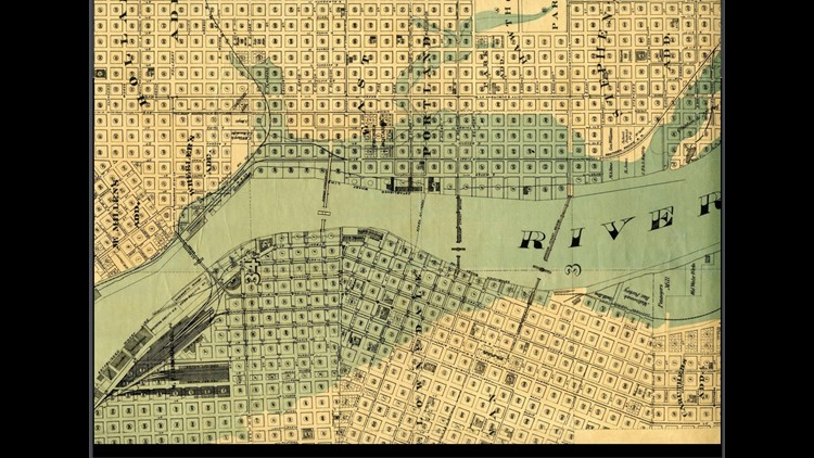 1894 Portland flood map