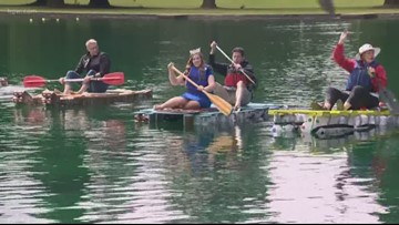 Out and About: Milk carton boat races