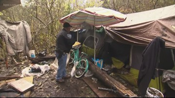 Astoria enforcing new ban on camping in woods