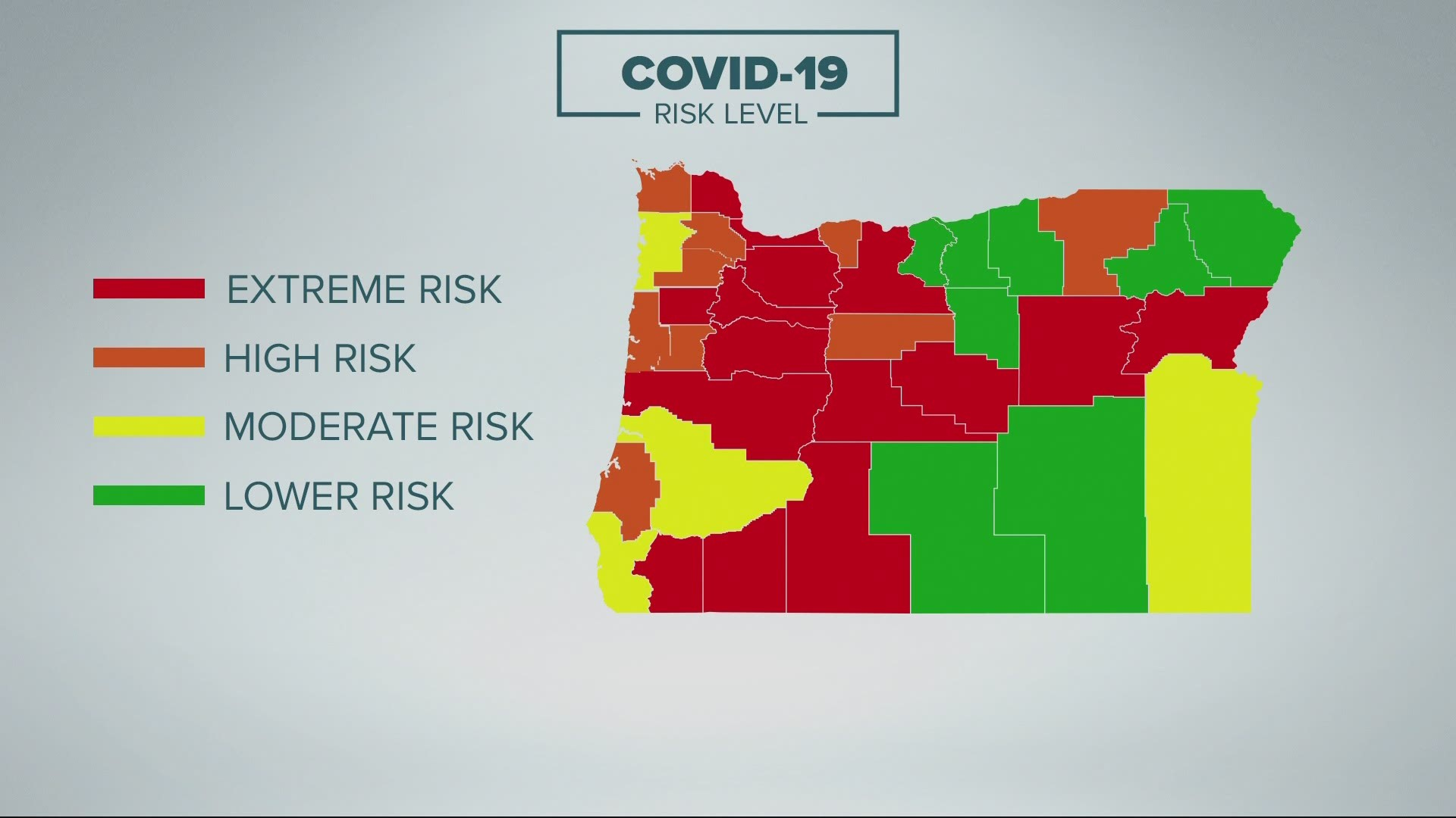 Here are the 15 Oregon counties moving to extreme COVID risk | kgw.com
