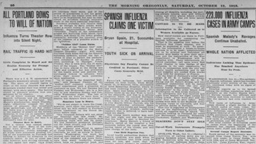 Century-old newspapers show 1918 flu pandemic hit Oregon hard