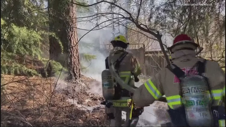 Fire danger arrives earlier in Oregon