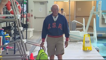 Meet an Oregon Olympian still swimming competitively at age 85