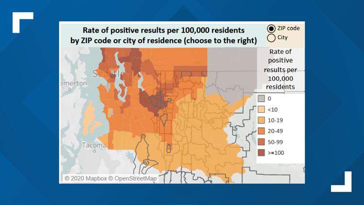 King County map from March 25, 2020
