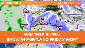 Snow possible overnight in Portland