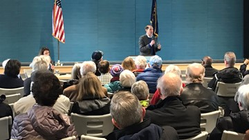 At Sen. Wyden town hall, Oregonians demand answers, transparency ahead of Senate impeachment trial