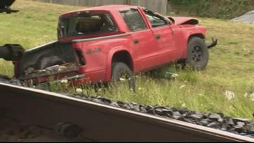 Man hurt after train, pickup collision in Camas, Wash