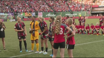 Portland Thorns honor World Cup winning teammates