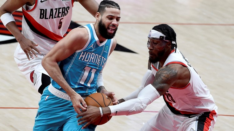 Carmelo Anthony has 29 and Blazers down Hornets 123-111