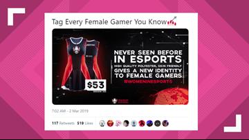 Gamer girl dress causes backlash for gaming apparel company