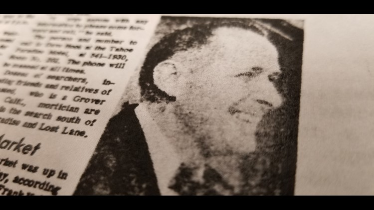 Douglas Grensted in newspaper article