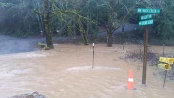 Heavy rain, snowmelt cause flooding in NW Oregon, SW Wash