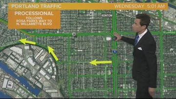 Traffic impacts of DeRosier procession and memorial
