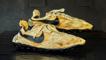 Track shoes used in 1972 Olympic trials sell for $50K to Nike-themed Eugene hotel