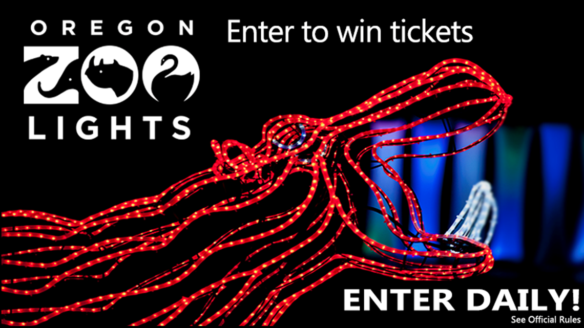 Win tickets to ZooLights at the Oregon Zoo