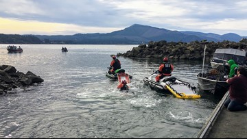Water rescue training gets real for KGW reporter on Oregon coast