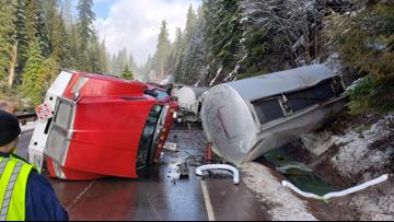 Highway 22 reopened after 5-day closure from tanker truck crash, fuel spill