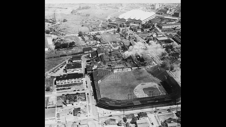 Vaughn Street Park next to the steel foundry, 1945