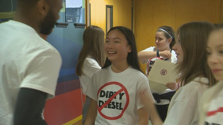 Students head to Salem in support of 'dirty diesel bill'