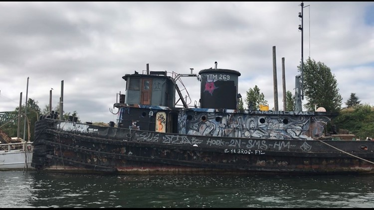PHOTOS: No timeline to remove abandoned military vessels from the Columbia River