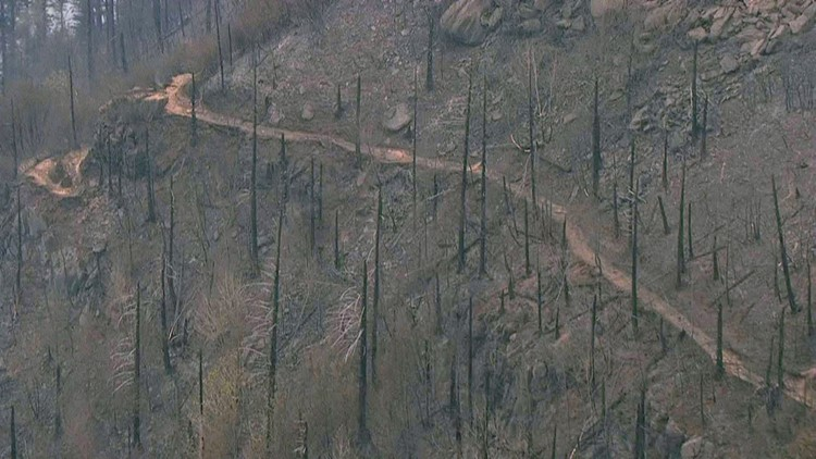 DawnStender, a trail crew supervisor for the Columbia River Gorge National Scenic Area, said the trailswill likely be off-limits until spring because of landslide risk and fire damage.