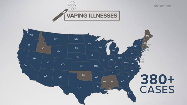 More than 380 cases of vaping-related illnesses are being investigated across the country.