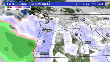 The stage is set  for a possible snow event in Portland next week