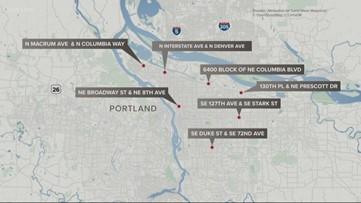 Portland police investigating 7 weekend shootings