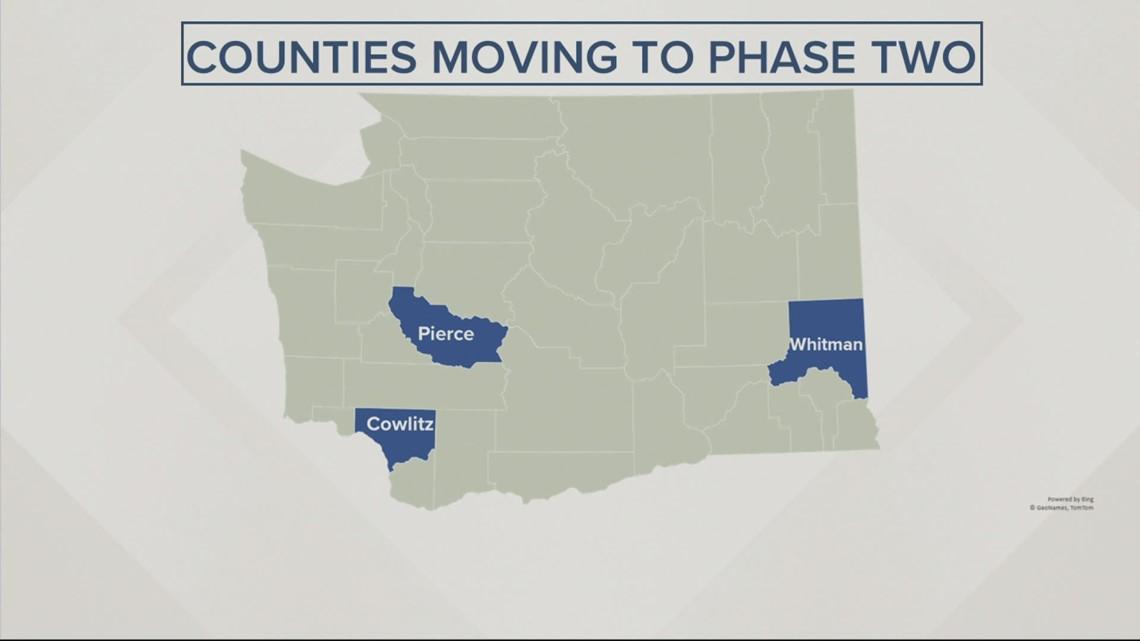 Washington moves Cowlitz County down to Phase 2
