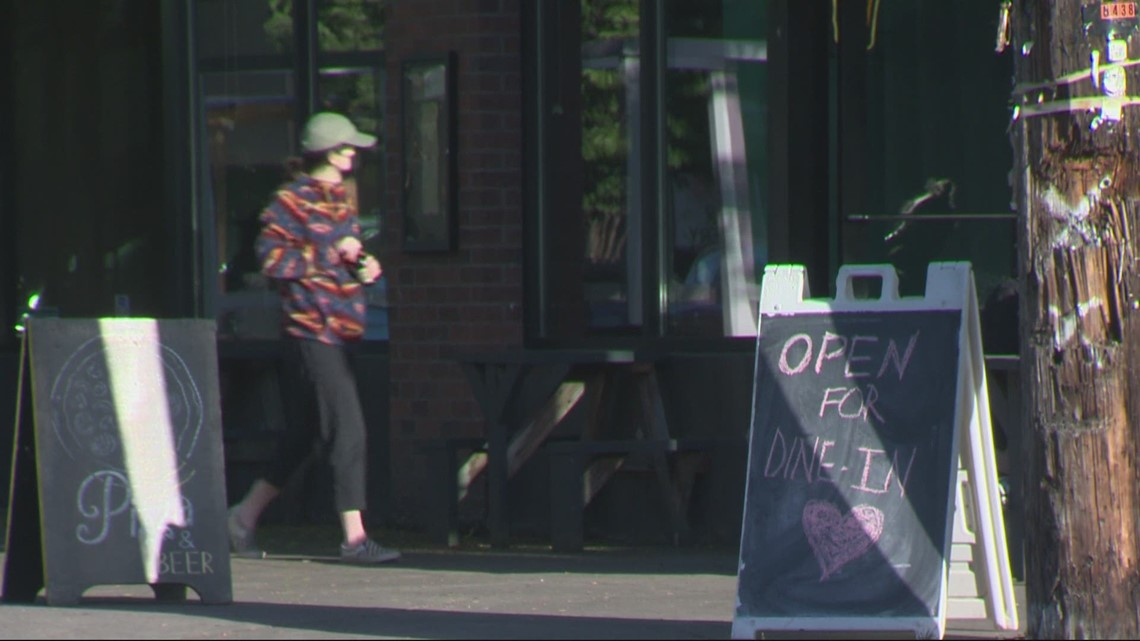 Dining rooms reopen after week-long closure in counties across Oregon