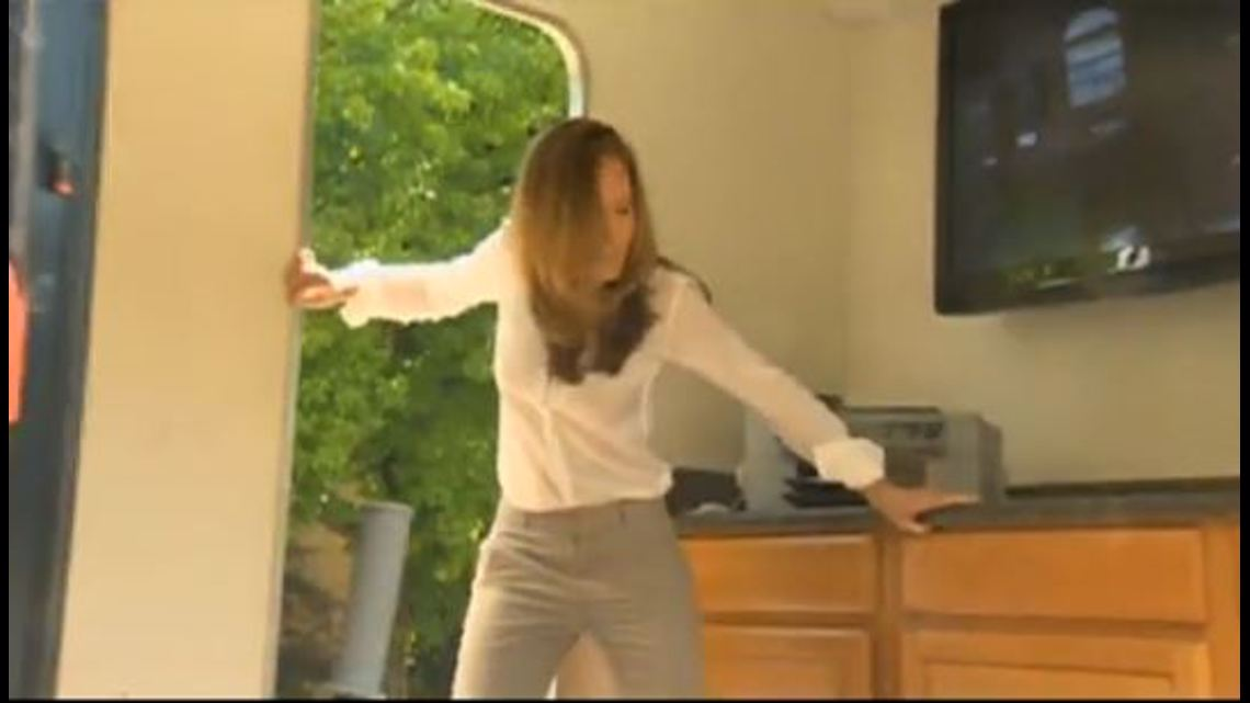 2012: Keely works to stay upright in 8.0 quake demo