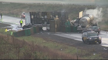 Two killed in fiery crash on icy Newberg-Dundee Bypass