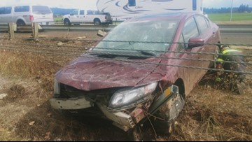 Oregon  State broadcaster survives crash on I-5