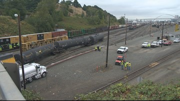 Union Pacific train with liquefied gas derails in Portland