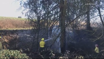 Crews region-wide around Portland on watch after brush fires