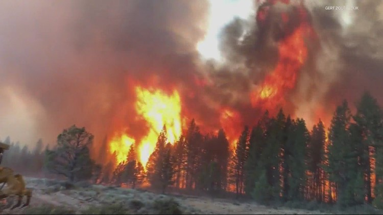 At the end of July, Oregon's 2021 fire season was greatly outpacing the 2020 season