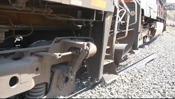 Freight train derails, spills diesel near Madras