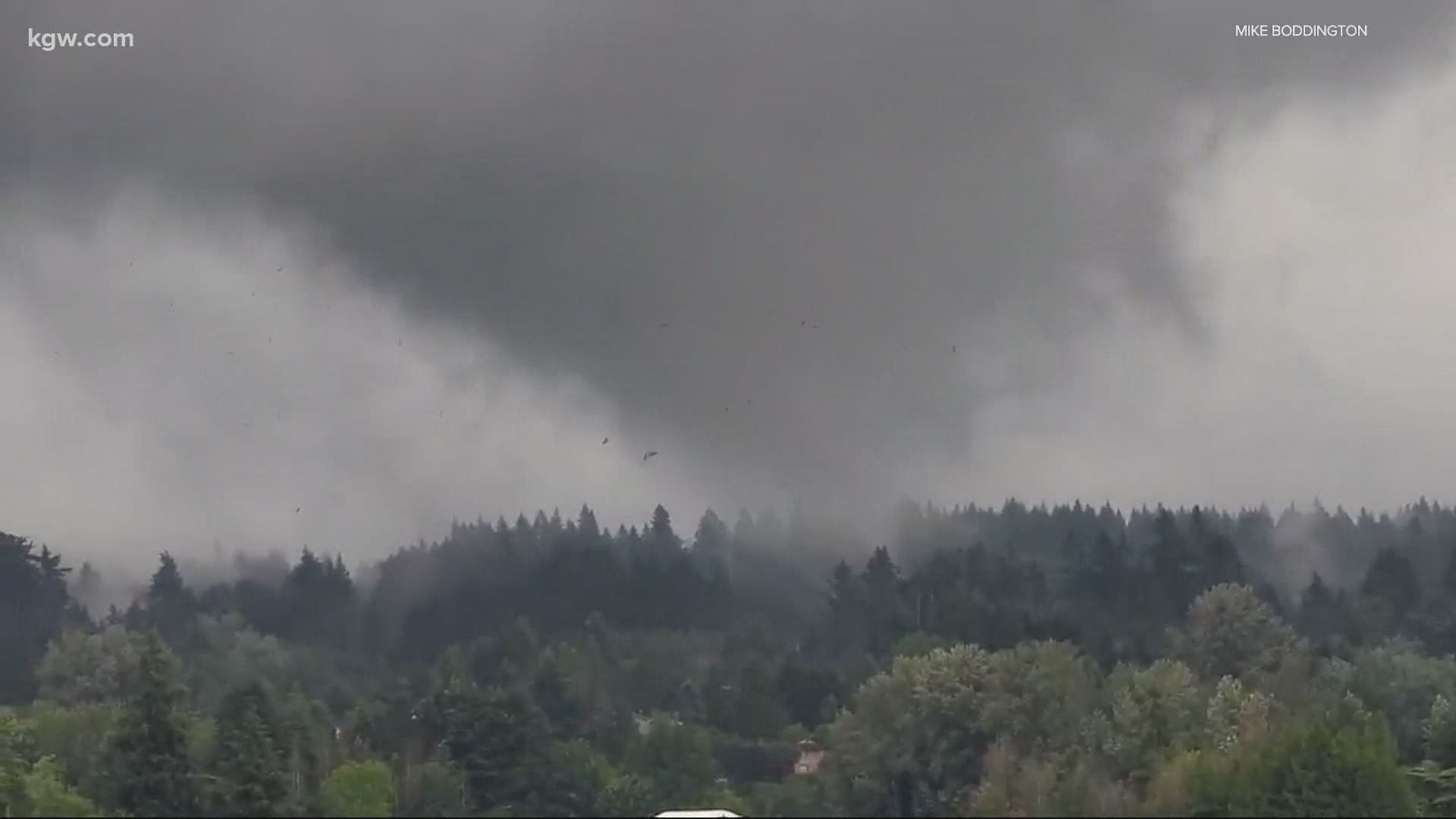 Funnel Cloud Reported In Damascus Nws Confirms Kgw Com Hundreds of homes in oregon are gone as growing wildfires, fueled in part by strong winds, substantially destroyed sections of several communities, gov. possible tornado causes damage in clackamas county