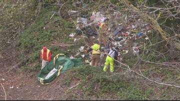 Crews start cleanup of homeless trash along I-84
