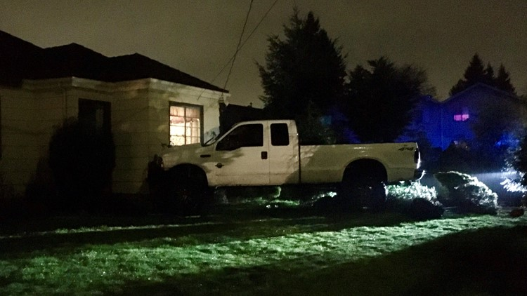 truck into house southeast