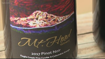 Hood River wineries to sell 'smoky pinot' from grapes impacted by Eagle Creek Fire