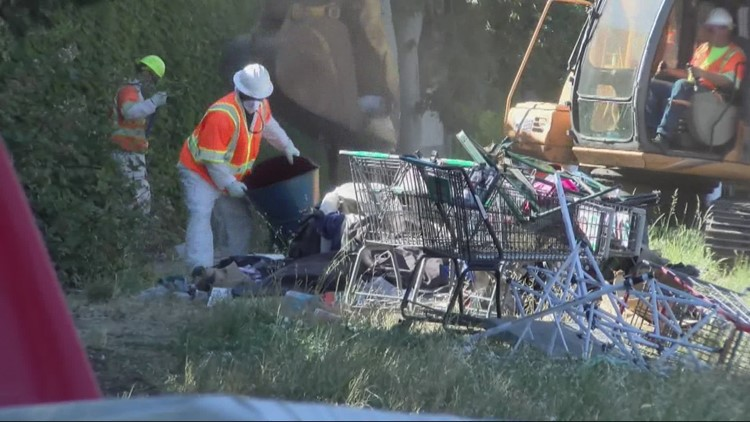 Large homeless camp cleared in Salem, people left with few options