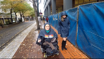 People with disabilities face mobility challenges in downtown Portland construction zones