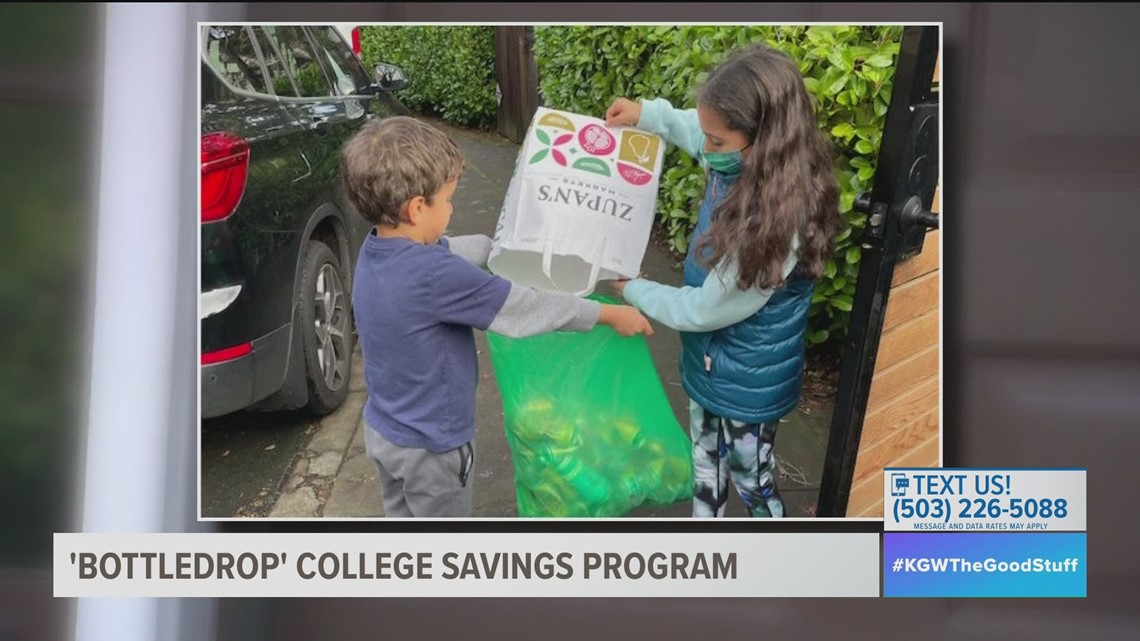 Portland family using BottleDrop program to help pay for kids' college