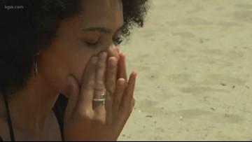 People using sunscreen wrong on eyelids
