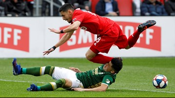 Timbers beat Toronto FC 2-1 in windy conditions