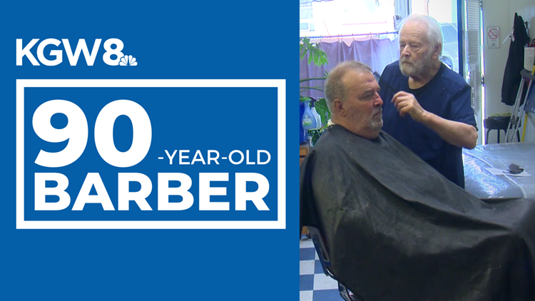 'I don't have 200 customers, I have 200 friends!' Portland barber still cutting hair at 90 years old