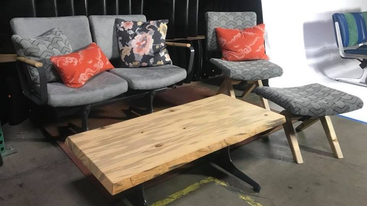 kgwcom Photos PDX benches transformed into modern furniture